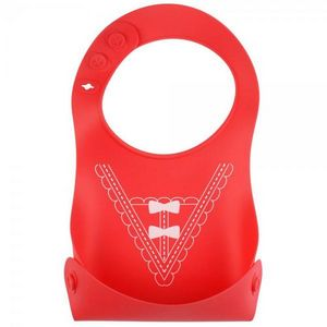 La Chaise Longue - bavoir silicone pliant rubans - Babero