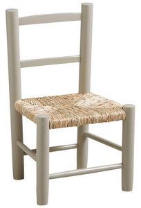 Aubry-Gaspard - petite chaise bois pour enfant gris - Silla Para Niño