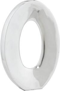KOKOON DESIGN - vase ovale vertical en aluminium poli 27x6x38cm - Búcaro