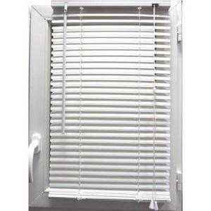Luance - store vénitien pvc blanc 60x180 cm - Estor Enrollable