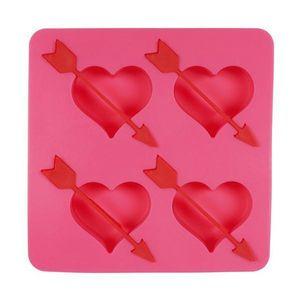 La Chaise Longue - moule à glaçons coeurs flèche rose - Cubitera