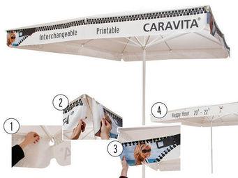 Caravita - volant valance - Sombrilla Publicitaria