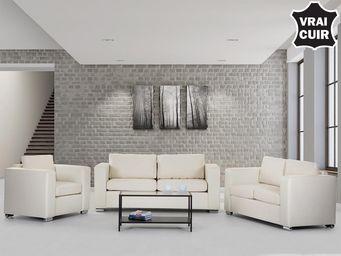 BELIANI - sofa en cuir - Salón
