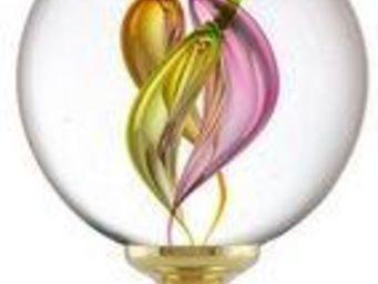 Les Verreries De Brehat - multicolore torsade - Bola Remate De Escalera