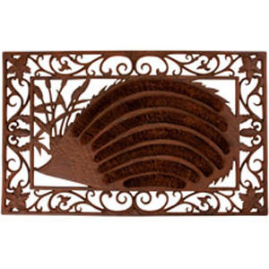 BEST FOR BOOTS - paillasson hérisson en coco et fonte 72x45x2.5cm - Felpudo
