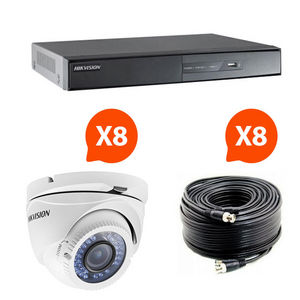 HIKVISION - video surveillance - pack 8 caméras infrarouge kit - Cámara De Vigilancia