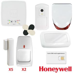 HONEYWELL SAFETY PRODUCTS - kit alarme sans fil gprs / gsm honeywell le sucre  - Alarma
