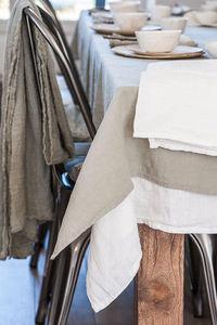 Couleur Chanvre -  - Mantel Rectangular