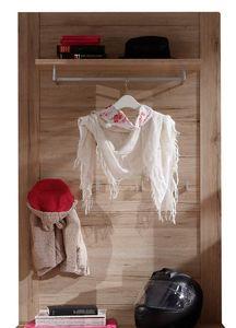COMFORIUM - porte-manteau mural avec penderie coloris chêne sa - Vestidor