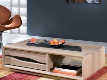 Ateliers De Langres - table basse rectangulaire ceram - Mesa De Centro Rectangular