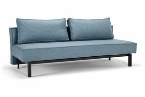 INNOVATION - canape lit design sly bleu innovation convertible  - Sofá Cama Clic Clac