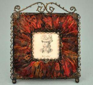 Demeure et Jardin - cadre photo carré rouge - Marco