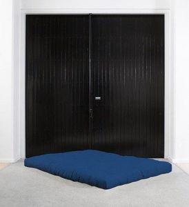 WHITE LABEL - matelas futon traditionnel bleu royal 140*200cm - Futón