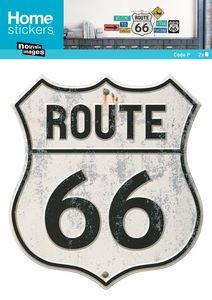Nouvelles Images - sticker mural route 66 panneau - Adhesivo