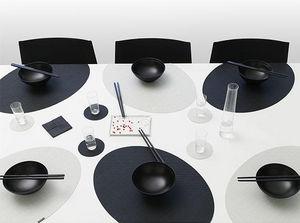 CHILEWICH - onedge minibasketweave black & sandstone - Mantel Individual
