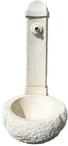 DECO GRANIT - fontaine en pierre blanche reconstituée 95x45x45cm - Fuente Mural