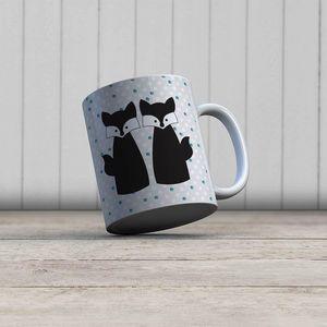 la Magie dans l'Image - mug amoures de renards - Taza