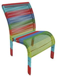 Aubry-Gaspard - chaise enfant en polyrésine multicolore - Silla Para Niño