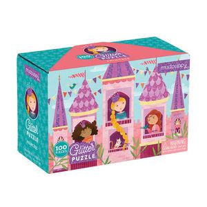 BERTOY - 100 pc glitter puzzle princess - Rompecabezas Niño