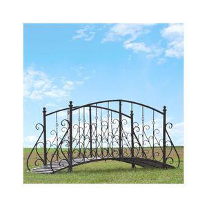 CHEMIN DE CAMPAGNE - pont passerelle en fer métal de jardin ruisseau 18 - Puente