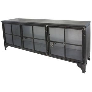 CHEMIN DE CAMPAGNE - enfilade bahut buffet meuble tele tv meuble indust - Mueble Tv Hi Fi