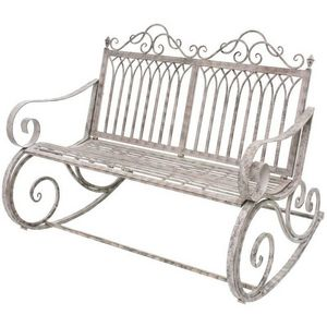 CHEMIN DE CAMPAGNE - grand banc fauteuil rocking chair en fer de jardin - Mecedora