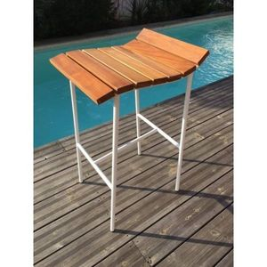 Mathi Design - tabouret de bar lounge blanc - Taburete De Bar