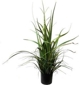 LIGNE DECO - graminées hautes artificielles avec pot en plastiq - Flor Artificial