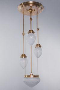 PATINAS - pannon pendant 3 + 1 - Candelero Con Cristales Colgantes