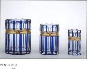 Cristal Benito - boite 3 diametres cobalt - Caja Decorativa