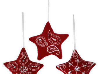 Gourmandises - �toiles rouges assorties - Decoraci�n De �rbol De Navidad