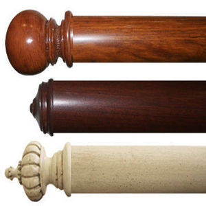 Curzon - 63mm dia clip-on rail curtain rods - Riel De Cortina