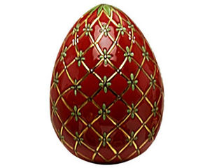 Emaux De Longwy - oeuf taille 3 fabergé (petrouchka) - Huevo Decorativo