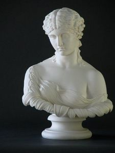CHARLES AND REBEKAH CLARK - parian bust clytie - Busto