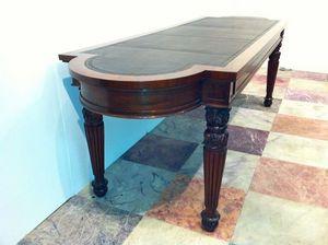 3details - regency mahogany library table by william trotter - Mesa De Conferencias