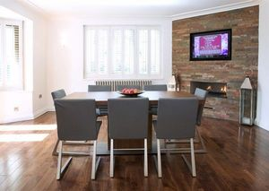 Russell Hutton Fine Interiors - painted and walnut bespoke kitchen, leeds, west yo - Comedor