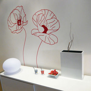 ALFRED CREATION - sticker velours - coquelicots rouge - Pegatina