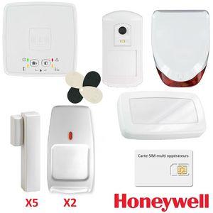 CFP SECURITE - kit alarme sans fil gprs / gsm honeywell le sucre  - Alarma