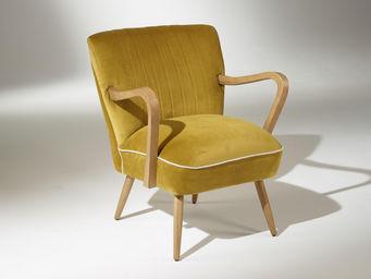 Robin des bois - fauteuil sixty jaune moutarde - Silla Baja