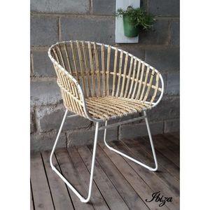 Mathi Design - fauteuil design rotin ibiza - Sillón