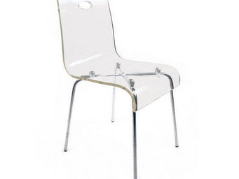 Miliboo - chaise design cindy transparente - Silla
