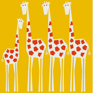 GRAVITI ZONE RUGS - jirafas - Alfombra Para Niño