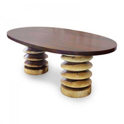 Tucker Robbins - Mesa de comedor ovalada-Tucker Robbins-Oval Table
