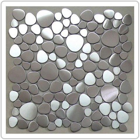 TOOSHOPPING - Azulejos de mosaico para pared-TOOSHOPPING-Crédence Carrelage inox Mosaique Inox Océan