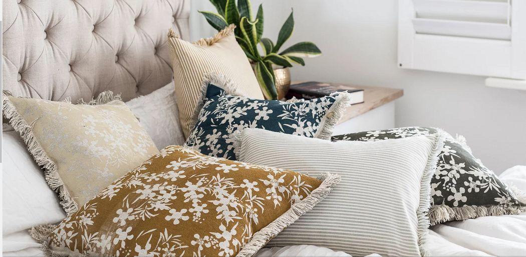 RAINE & HUMBLE Fodera per cuscino Cuscini Guanciali Federe Biancheria  |