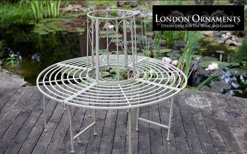 LONDON ORNAMENTS Panca da giardino circolare Panchine per esterni Giardino Arredo Giardino-Piscina | Charme