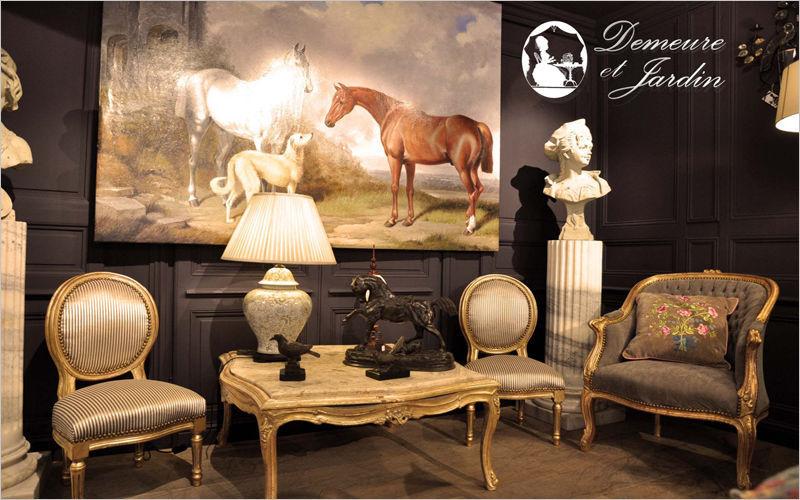 Demeure et Jardin Sedia medaglione Sedie Sedute & Divani Salotto-Bar | Classico