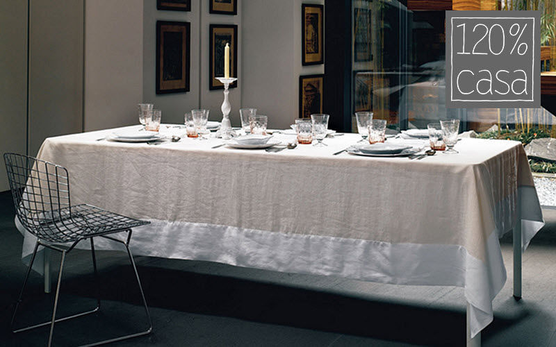 120% Lino Casa Tovaglia rettangolare Tovaglie Biancheria da Tavola Sala da pranzo | Charme