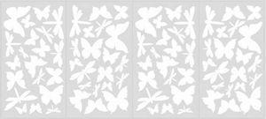 RoomMates - stickers phosphorescents papillons &amp, libellule - Sticker