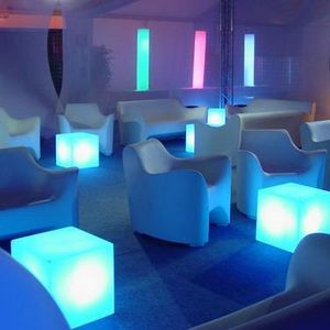 Slide - cubo - cube lumineux extérieur blanc h20cm | lampe - Lampada Da Giardino